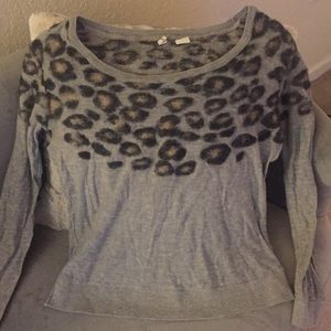 Moth knit leopard Sweater